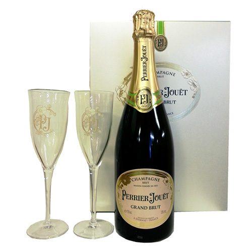 Perrier-Jouët Grand Brut - Coffret 1 Bouteille 2 Flutes