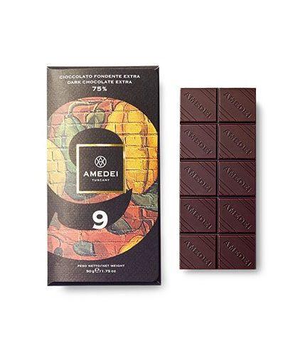 Tavoletta Amedei Tuscany - 9 - Cioccolato Fondente Extra 75%