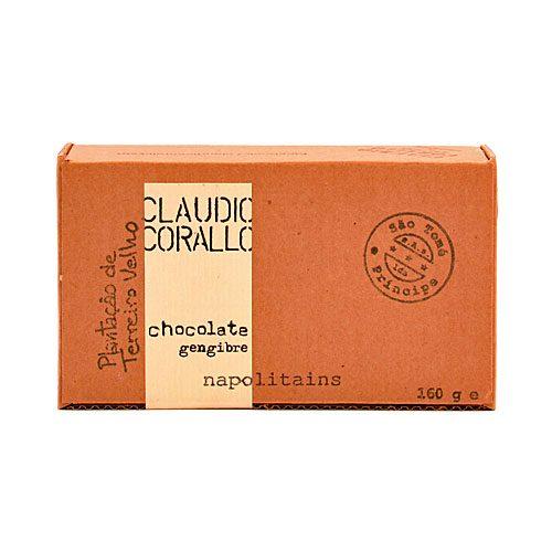 Claudio Corallo - Chocolate Gengibre - Napolitains - 70% Puro Cacao
