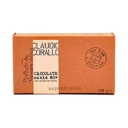 Claudio Corallo - Chocolate Sablè - Napolitains - 80% Puro Cacao