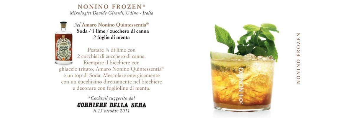 Cocktails Nonino | Nonino Frozen