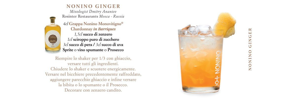 Cocktails Nonino | Ginger Nonino