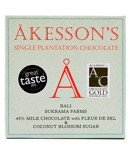 Akesson's - Bali - 45% Milk Chocolate with fleur de Sel & Coconut Blossom Sugar