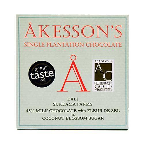Akesson's - Bali - 45% Milk Chocolate with fleur de Sel & Coconut Blossom Sugar