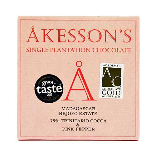 Akesson's - Madagascar & Pink Pepper - 75% Cacao Criollo