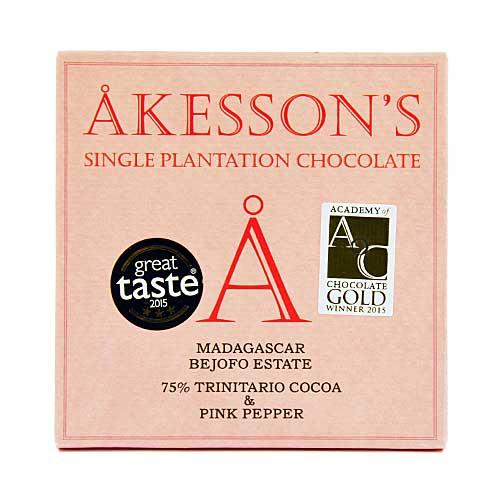 Akesson's - Madagascar & Pink Pepper - 75% Cacao Criollo