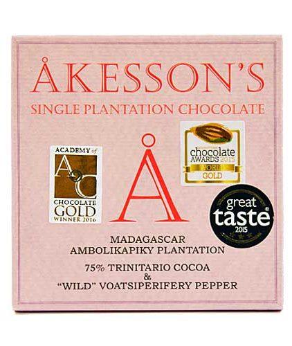 Akesson's - Madagascar & Wild Voatsiperifery Pepper - 75% Cacao Criollo