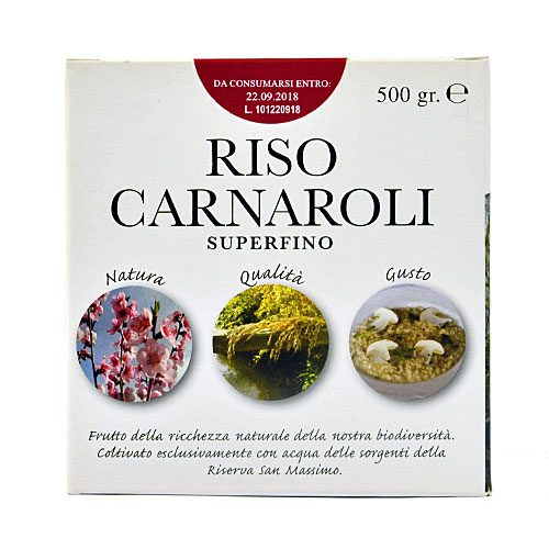 Riserva San Massimo - Riso Carnaroli Super fino - Confezione da 0.5 KG