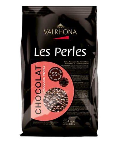 Valrhona - Perle di cioccolato fondente 55%