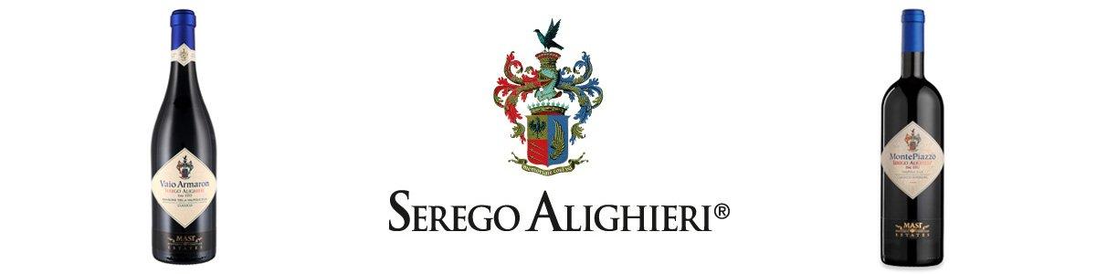 Serego Alighieri - Logo e Bottiglie Serata Ravenna