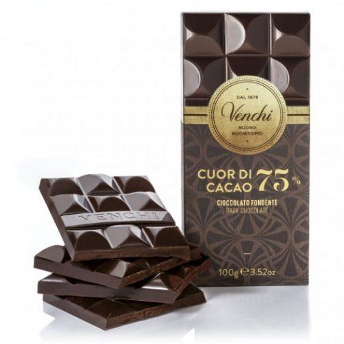 Venchi - Cioccolato Fondente Cuor di Cacao 75%