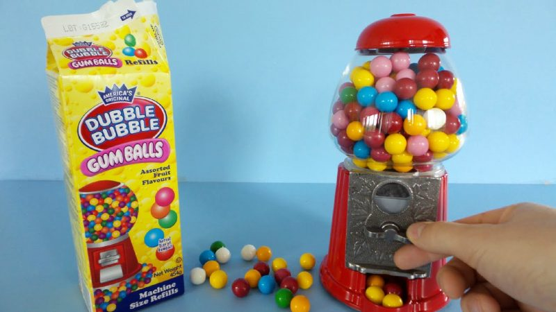 Dispenser Retro Dubble Bubble con ricarica