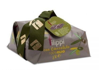 Pasticceria Filippi - Colomba Olio Extra Vergine di Oliva con cioccolato vidamà