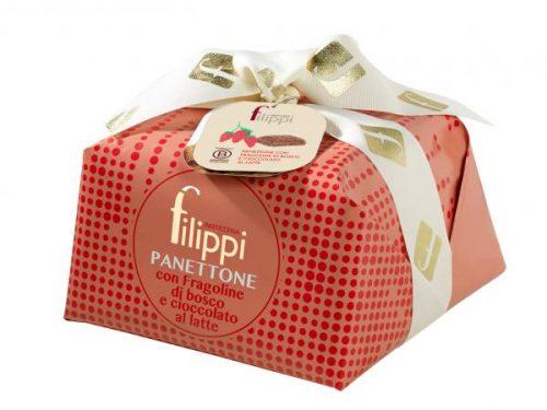 Pasticceria Filippi - Panettone Speciale con Fragoline di Bosco e Cioccolato al latte